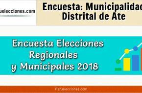 Encuesta Municipalidad Distrital de Ate Elecciones 2018