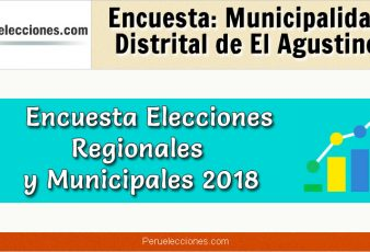 Encuesta Municipalidad Distrital de El Agustino Elecciones 2018
