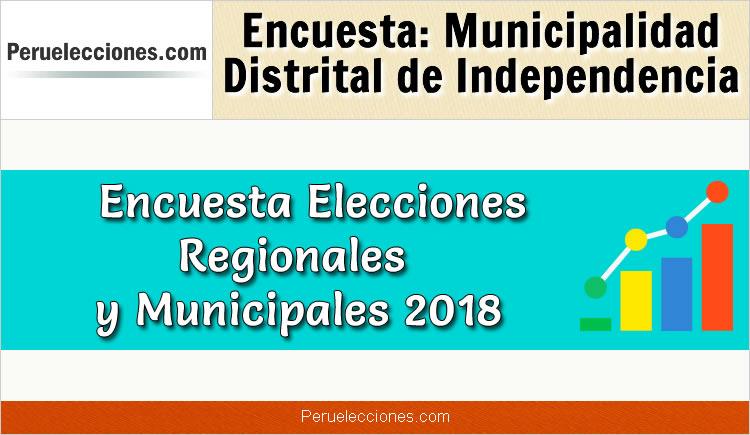 Encuesta Municipalidad Distrital de Independencia Elecciones 2018