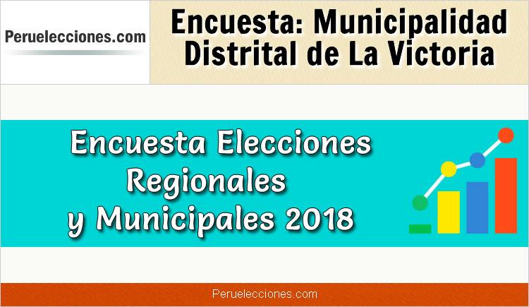 Encuesta Municipalidad Distrital de La Victoria Elecciones 2018