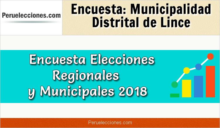 Encuesta Municipalidad Distrital de Lince Elecciones 2018