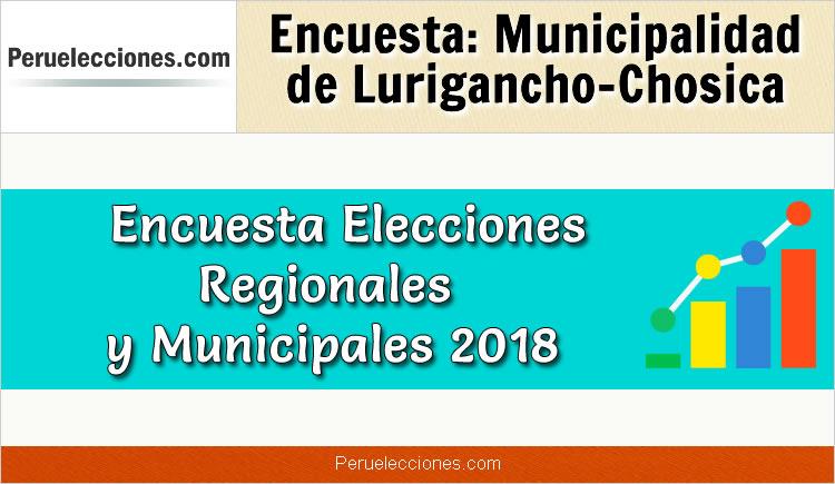 Encuesta Municipalidad Distrital de Lurigancho Chosica Elecciones 2018