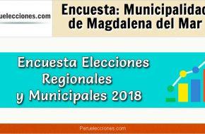 Encuesta Municipalidad Distrital de Magdalena del Mar Elecciones 2018