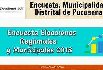 Encuesta Municipalidad Distrital de Pucusana Elecciones 2018