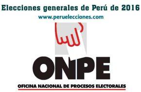 Cronograma de Elecciones Presidenciales Perú 2016 – Primera y Segunda Vuelta
