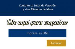 ¿Dónde me toca votar? ONPE Locales y Mesa de votación, Segunda Vuelta Elecciones 2016