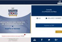 ONPE: Local de votación se conocerá desde 2 de marzo 2016