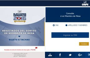 ONPE: Lista de Miembro de mesa para las Elecciones Presidenciales 10 Abril 2016