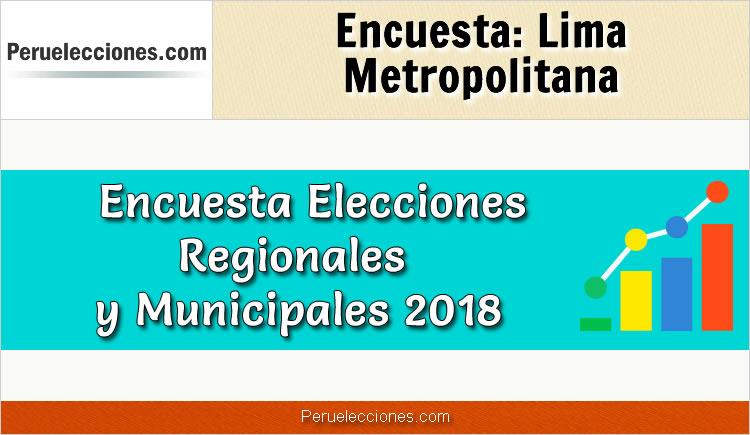 Encuesta Alcaldía de Lima Metropolitana Elecciones 2018