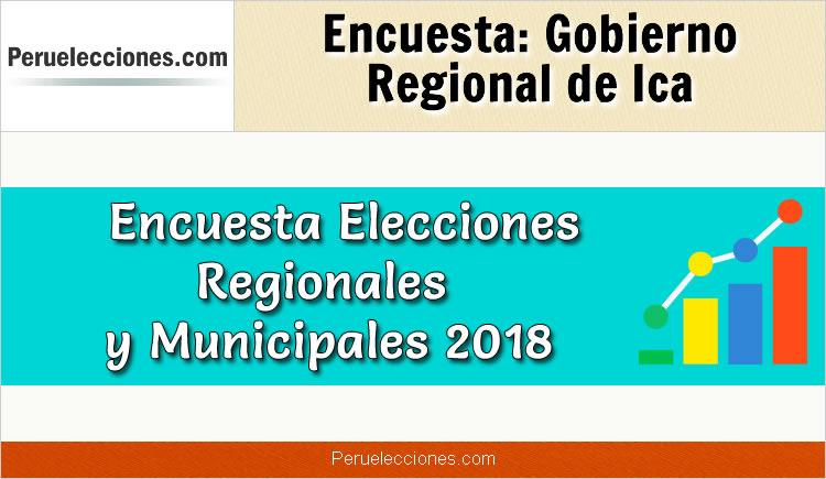 Encuesta Gobierno Regional de Ica Elecciones 2018