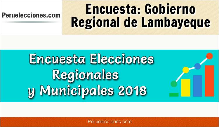 Encuesta Gobierno Regional de Lambayeque Elecciones 2018