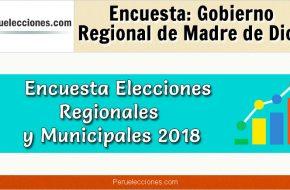 Encuesta Online Gobierno Regional de Madre de Dios – Mes Julio 2018