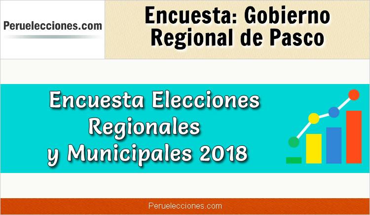 Encuesta Gobierno Regional de Pasco Elecciones 2018
