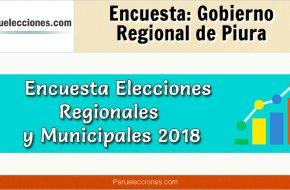 Encuesta Gobierno Regional de Piura Elecciones 2018