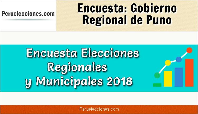 Encuesta Gobierno Regional de Puno Elecciones 2018