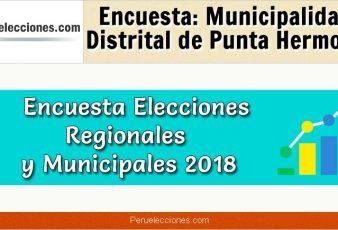 Encuesta Municipalidad Distrital de Punta Hermosa Elecciones 2018