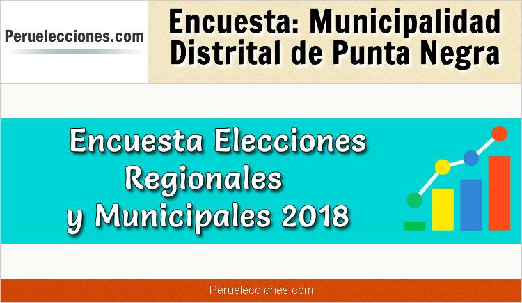 Encuesta Municipalidad Distrital de Punta Negra Elecciones 2018