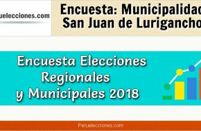 Encuesta Online Alcaldía de San Juan de Lurigancho – Mes Octubre 2018