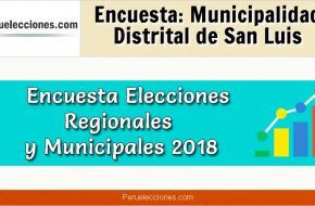 Encuesta Online Alcaldía de San Luis – Mes Octubre 2018