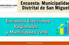 Encuesta Online Alcaldía de San Miguel – Mes Octubre 2018