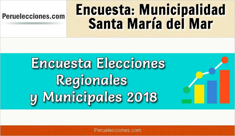 Encuesta Municipalidad Distrital de Santa María del Mar Elecciones 2018