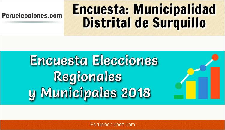 Encuesta Municipalidad Distrital de Surquillo Elecciones 2018