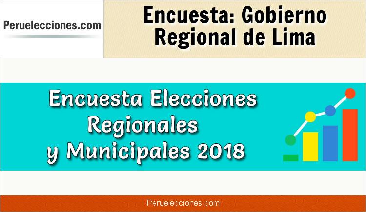 Encuesta Online Gobierno Regional de Lima Elecciones 2018