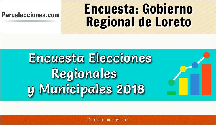 Encuesta Online Gobierno Regional de Loreto Elecciones 2018