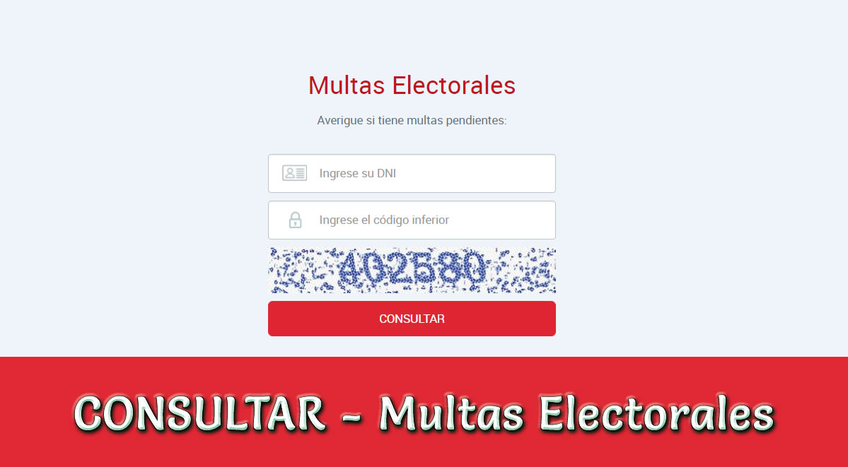Consultar multas electorales JNE