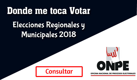 Donde me toca votar ONPE