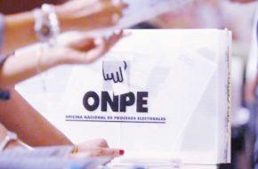 Orden de candidatos ONPE