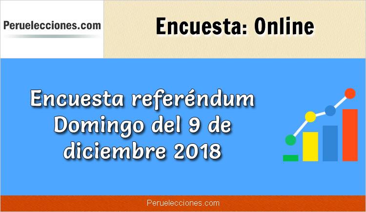 Encuesta Referéndum 2018 Intención de Voto