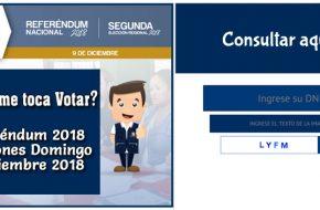 Consultar Donde me toca votar ONPE