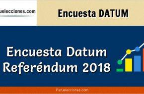 Encuesta referéndum 2018 DATUM