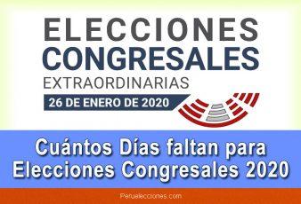 Cuántos días faltan para elecciones congresales 2020
