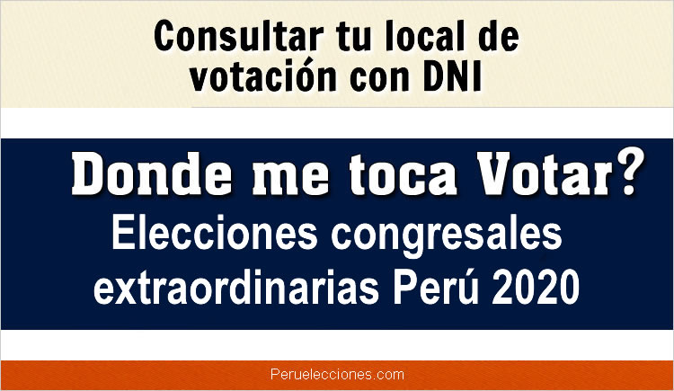 Donde me toca votar ONPE 2020