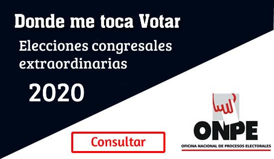 Donde me toca votar ONPE 2020