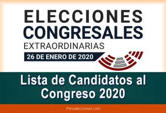 Lista de Candidatos al Congreso 2020