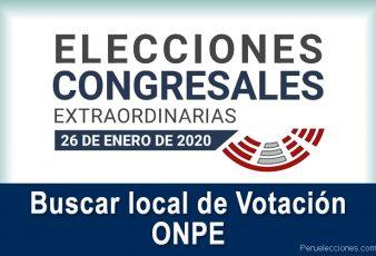 ONPE Buscar local de Votación con DNI