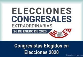 ONPE Lista de los 130 congresistas elegidos en elecciones 2020