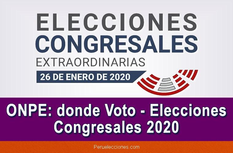 ONPE donde Voto Elecciones Congresales 2020
