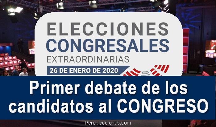 Primer debate de los candidatos al CONGRESO 2020