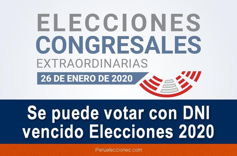 Se puede VOTAR con DNI vencido Elecciones 2020