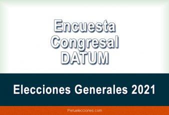 Encuesta Elecciones Generales 2021