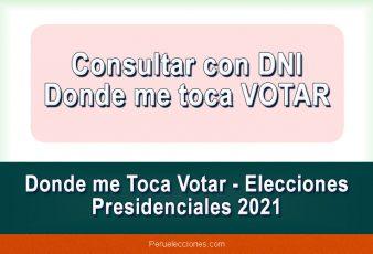 Consultar con DNI donde me toca votar elecciones 2021